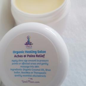 Yaels Moon:  Aches & Pains Salve  ~ Organic  ~ Healing  Remedy Rub