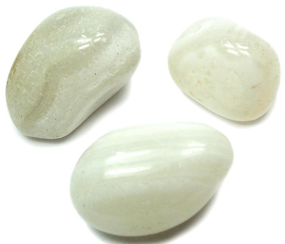 White Agate Tumbled Stone El9 Shop