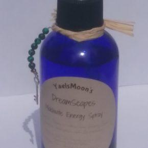 YaelsMoon:  DreamScapes ~  Moldavite Crystal Energy Spray   6 oz Glass Bottle