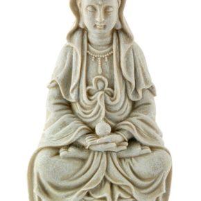 Kwan Yin Polystone Statue (8.5″)