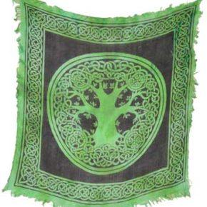 Green Tree of Life Altar Cloth (18″X18″)