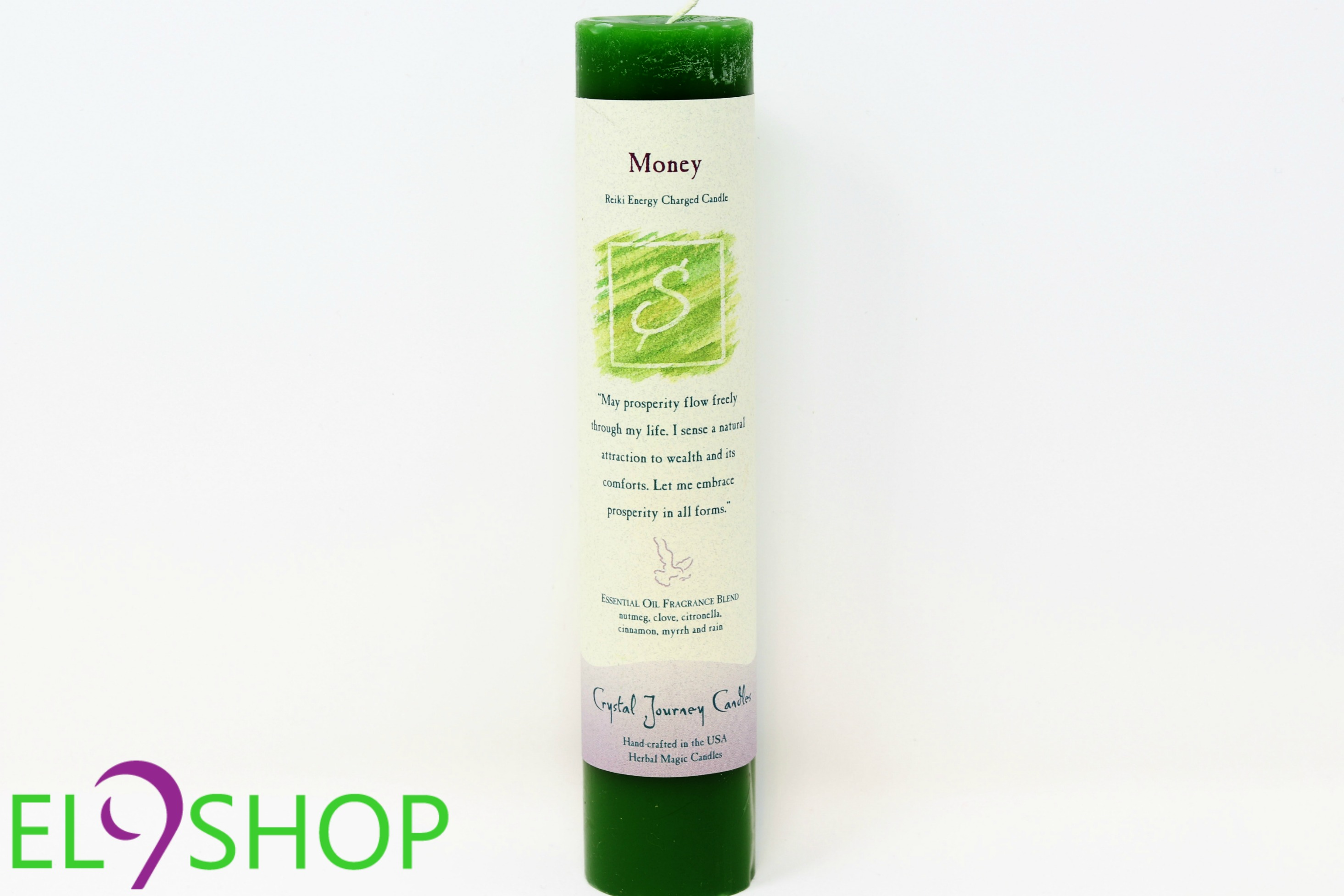 Money - Reiki Energy Charged Candle (7